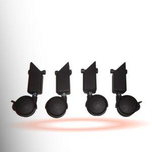 Wsporniki z kółkami do podwyższenia siedziska fotela